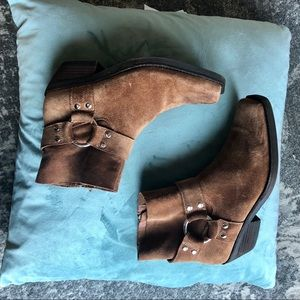 Jeffrey Campbell Free People Western Suede Booties